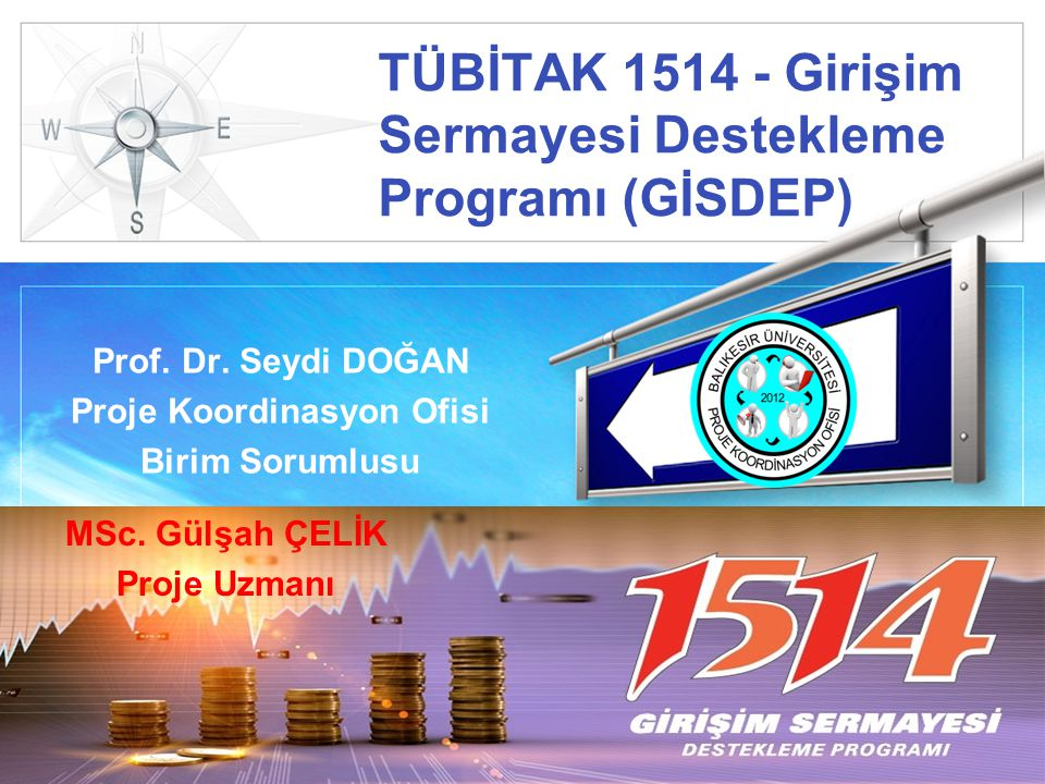 LOGO TÜBİTAK 1514 - Girişim Sermayesi Destekleme Programı (GİSDEP) Prof.
