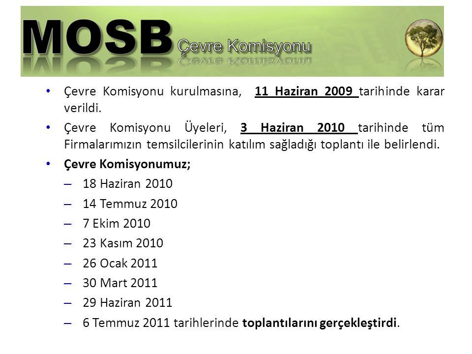 Çevre Komisyonu kurulmasına, 11 Haziran 2009 tarihinde karar verildi.