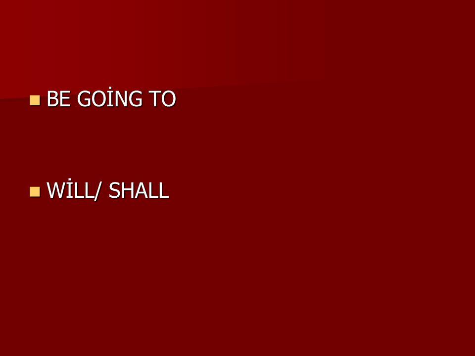 Will gelecekte yapılacak eylemleri anlatmak için kullanılır.