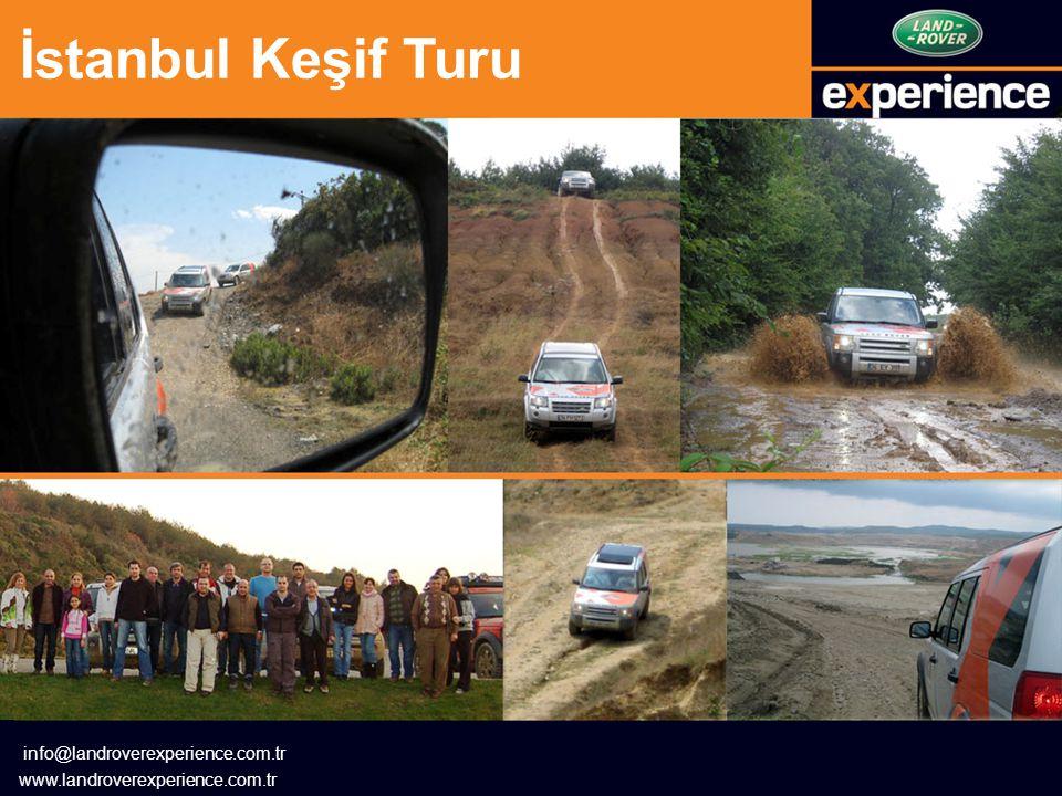 İstanbul Keşif Turu info@landroverexperience.com.tr www.landroverexperience.com.tr