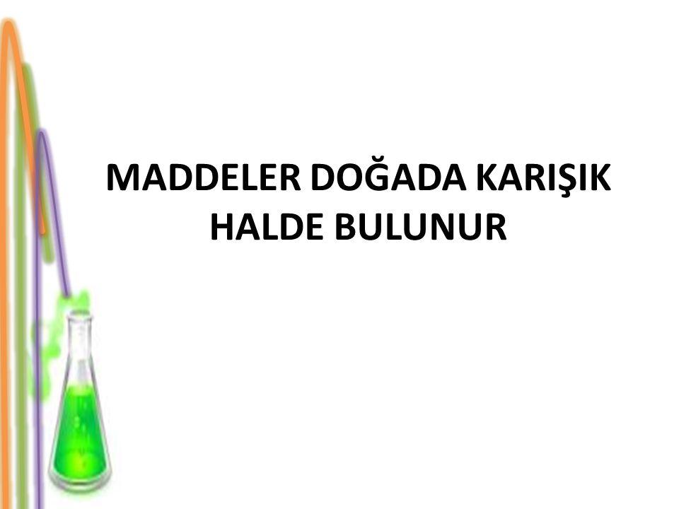 SAF MADDELER Maddelerin katı, sıvı ve gazlar olarak gruplandırılabileceğini öğrendiniz.