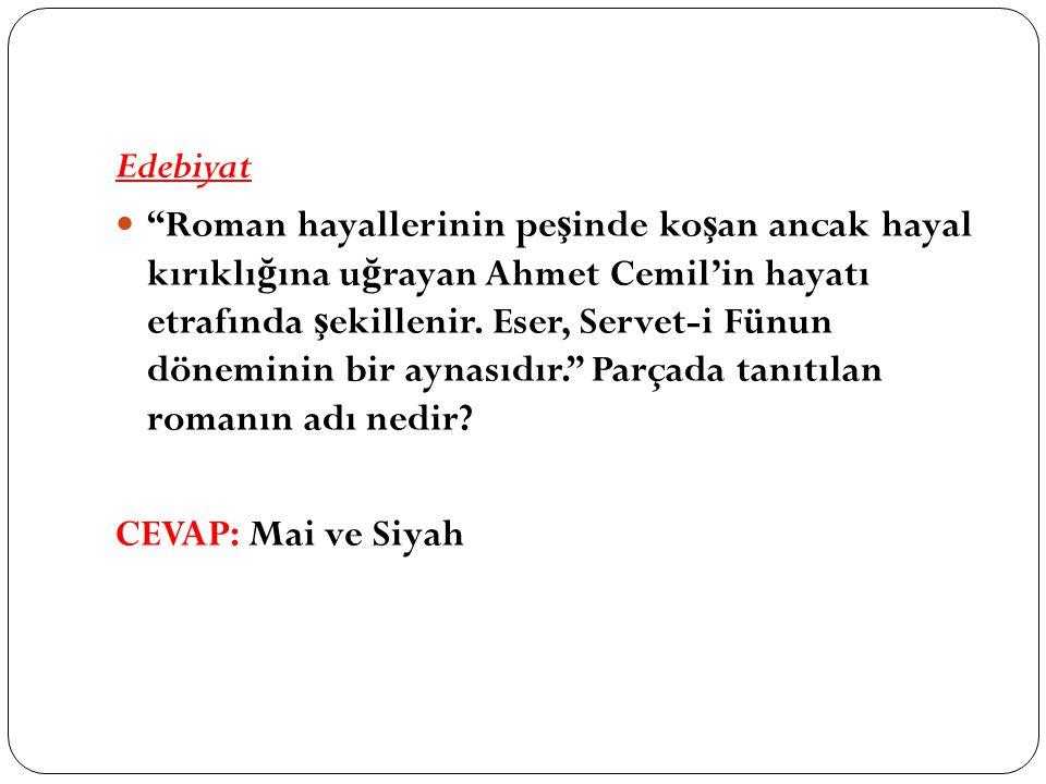 Edebiyat Roman hayallerinin pe ş inde ko ş an ancak hayal kırıklı ğ ına u ğ rayan Ahmet Cemil'in hayatı etrafında ş ekillenir.