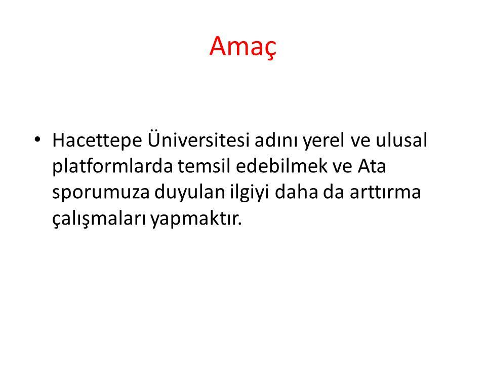 Amaç Hacettepe Üniversitesi adını yerel ve ulusal platformlarda temsil edebilmek ve Ata sporumuza duyulan ilgiyi daha da arttırma çalışmaları yapmaktı