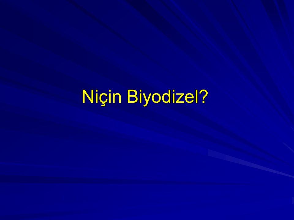 Niçin Biyodizel?