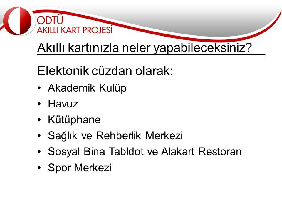 İletişim ve ayrıntılı bilgi için... www.smartcard.metu.edu.tr smartcard@metu.edu.tr