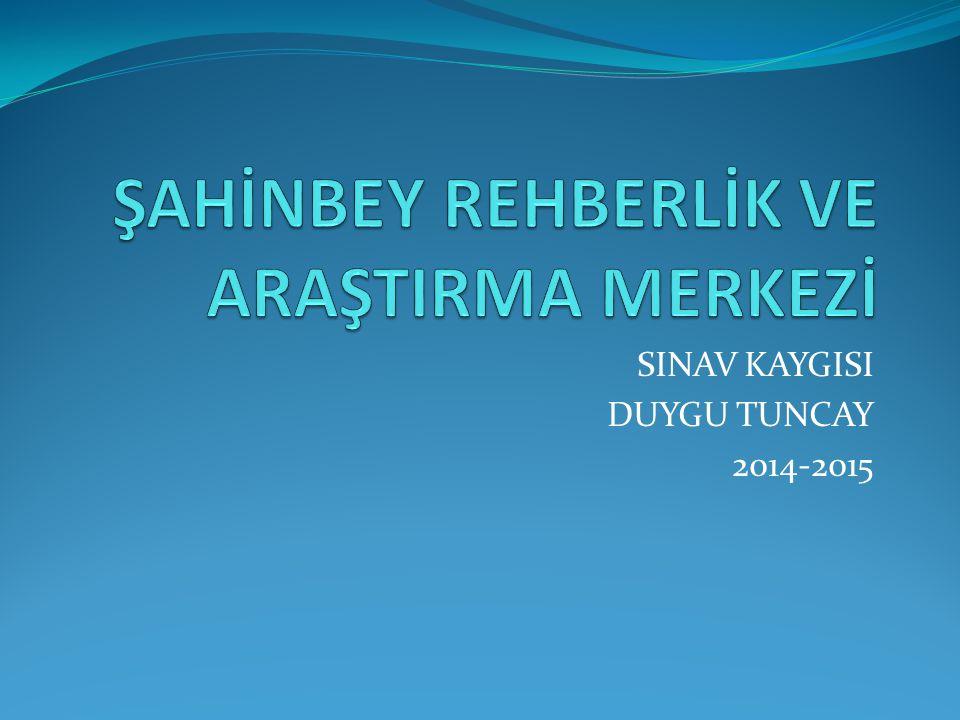 SINAV KAYGISI DUYGU TUNCAY 2014-2015