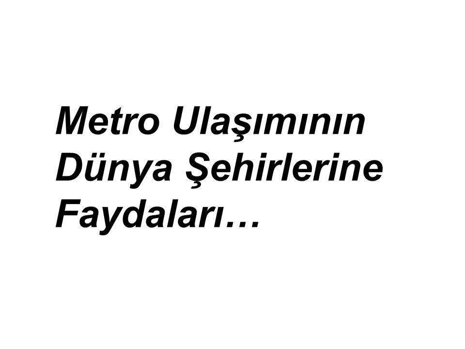 Metro Ulaşımının Dünya Şehirlerine Faydaları…