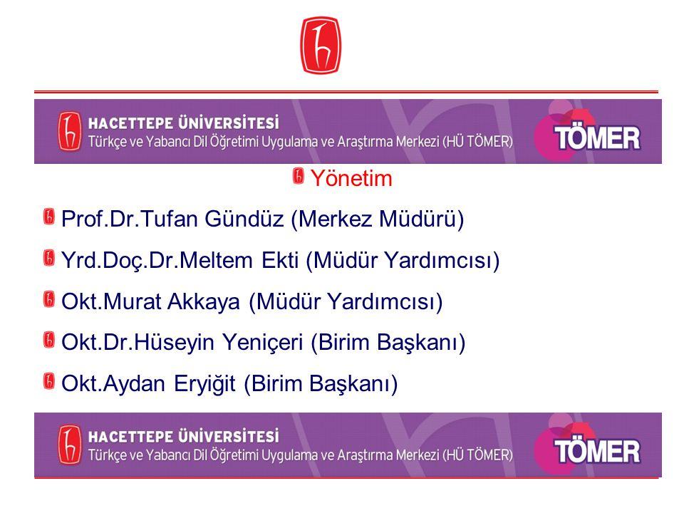Yönetim Prof.Dr.Tufan Gündüz (Merkez Müdürü) Yrd.Doç.Dr.Meltem Ekti (Müdür Yardımcısı) Okt.Murat Akkaya (Müdür Yardımcısı) Okt.Dr.Hüseyin Yeniçeri (Bi