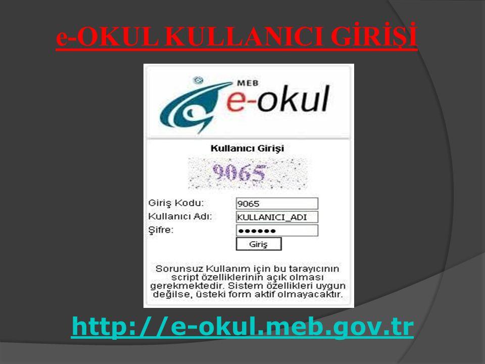 e-OKUL KULLANICI GİRİŞİ http://e-okul.meb.gov.tr