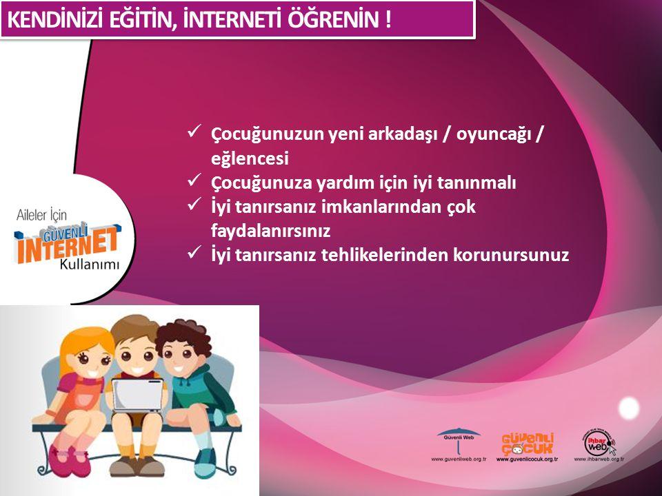 Bilgisayarı / interneti oturma odanıza taşıyın Çocuğunuzun girdiği sitelere dikkat edin İnterneti bir bakıcı gibi görmeyin ve İnternette çocuğunuzla beraber vakit geçirmeye çalışın.