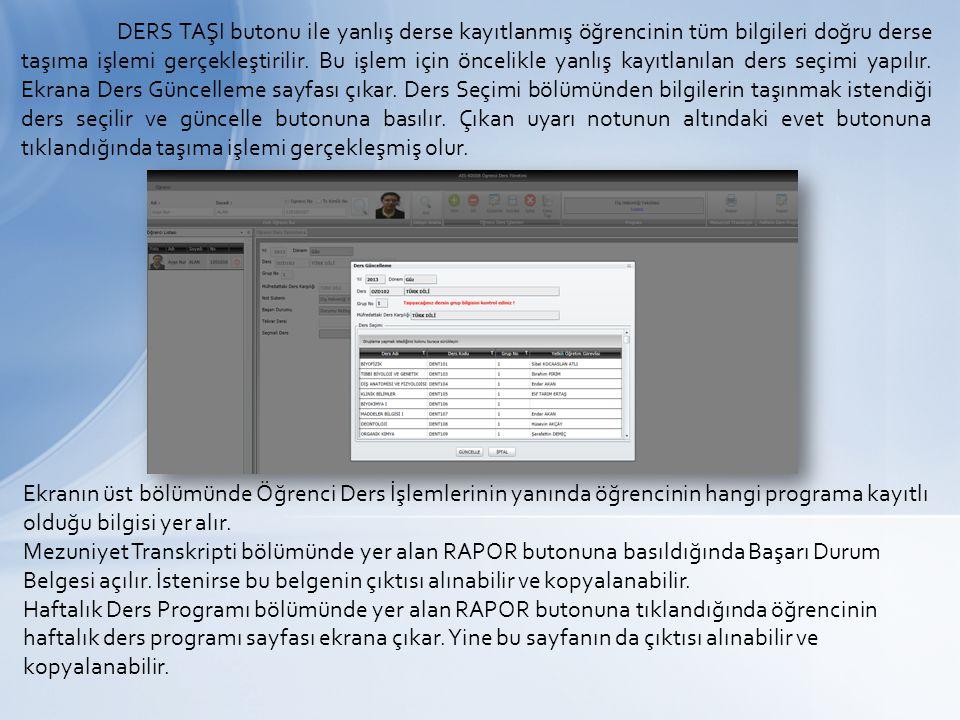 Öğrencinin ders notlarının görüntülendiği ve üzerine düzenleme yapıldığı ekrandır.