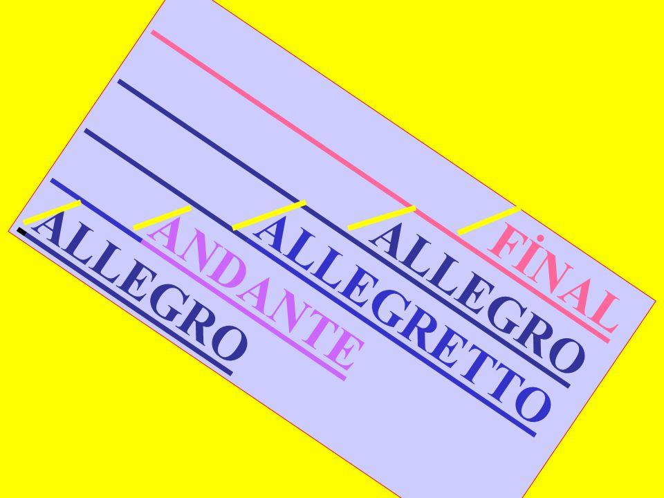 FİNAL ALLEGRO ALLEGRETTO ANDANTE ALLEGRO