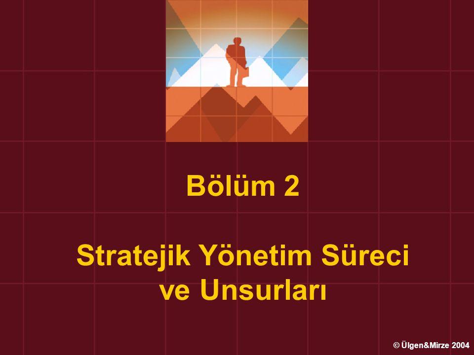 Bölüm 2 Stratejik Yönetim Süreci ve Unsurları © Ülgen&Mirze 2004