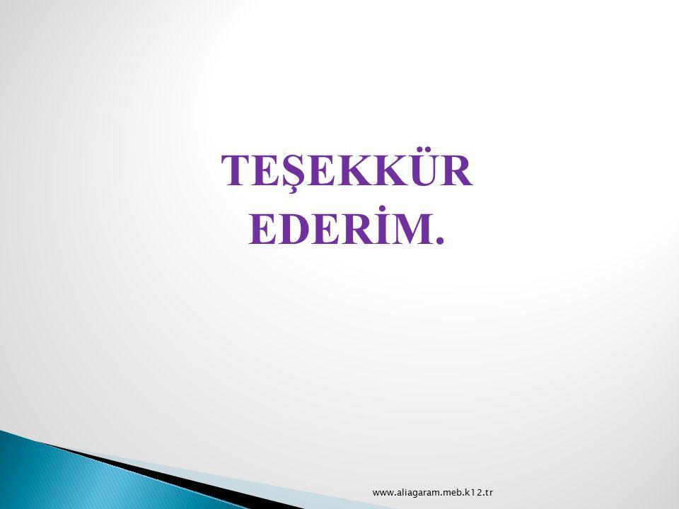 TEŞEKKÜR EDERİM. www.aliagaram.meb.k12.tr