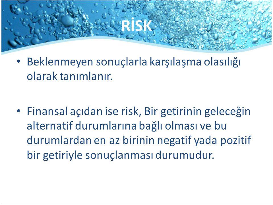 d- Faiz Oranı Riski Faiz riski, faiz oranlarında ortaya çıkan değişimlerden dolayı karşılaşılan risk olup, bu risk; herhangi bir yatırımdan beklenen getiriyi olumlu veya olumsuz etkiler veya şirketlerin yaptığı borçlanmalar üzerinde etkili olur.