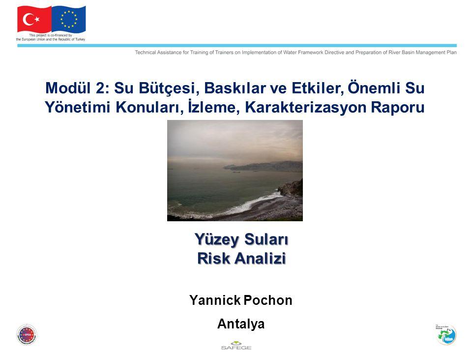 Yüzey Suları Risk Analizi Yannick Pochon Antalya Modül 2: Su Bütçesi, Baskılar ve Etkiler, Önemli Su Yönetimi Konuları, İzleme, Karakterizasyon Raporu