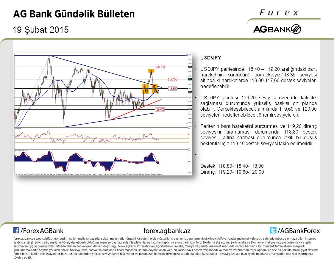 19 Şubat 2015 ALTIN Altın aşağı yönlü baskılarının devam etmesi durumunda kanalın alt noktası olan 1205 seviyesi test edilebilir.