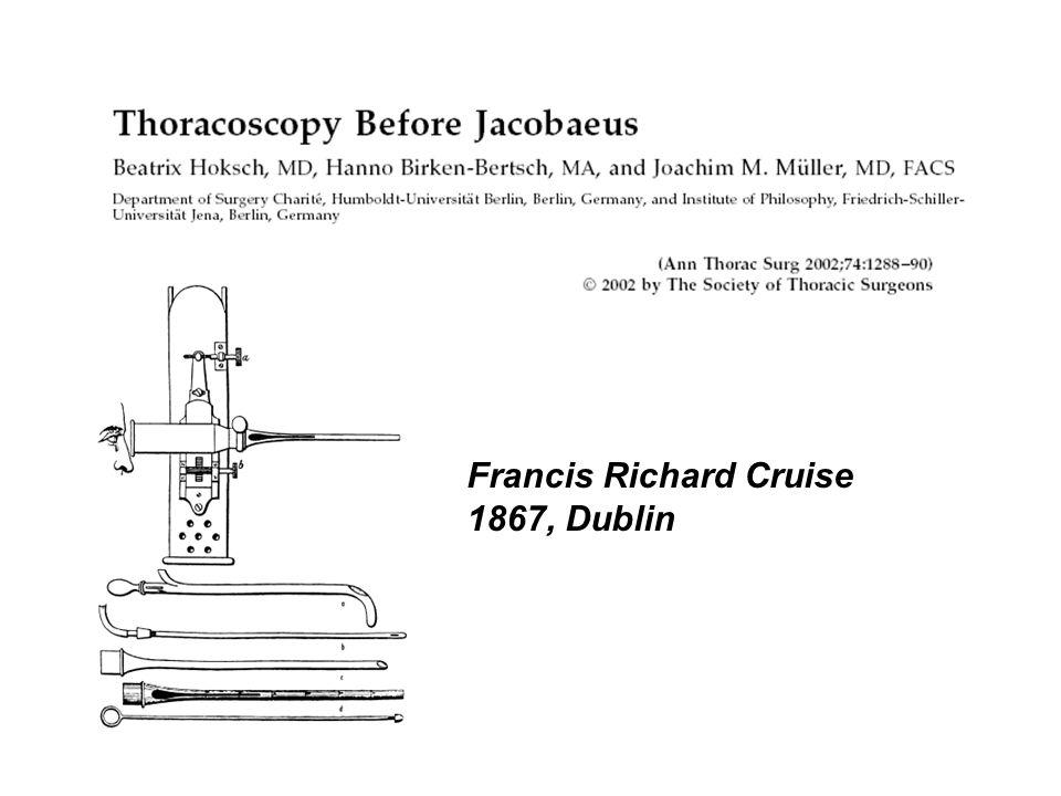 Francis Richard Cruise 1867, Dublin