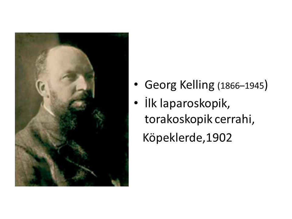 Georg Kelling (1866–1945 ) İlk laparoskopik, torakoskopik cerrahi, Köpeklerde,1902