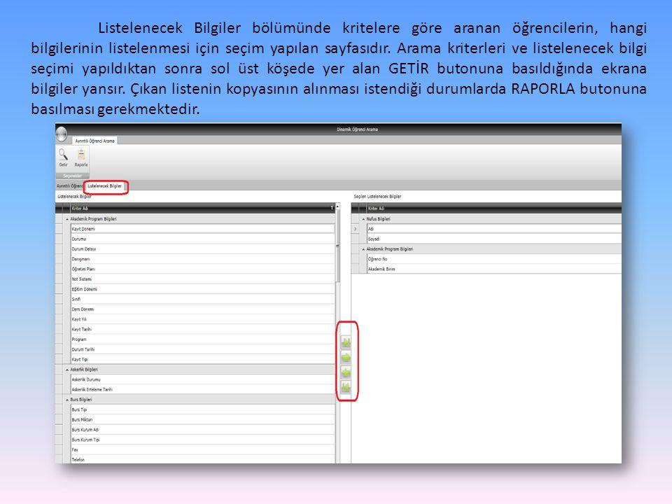 YÖNETİM KURULU KARARLARI Üniversite yönetim kurulu kararlarının yer aldığı ekrandır.