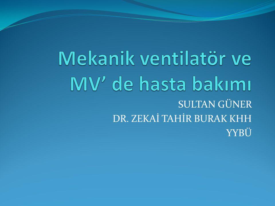 SULTAN GÜNER DR. ZEKAİ TAHİR BURAK KHH YYBÜ