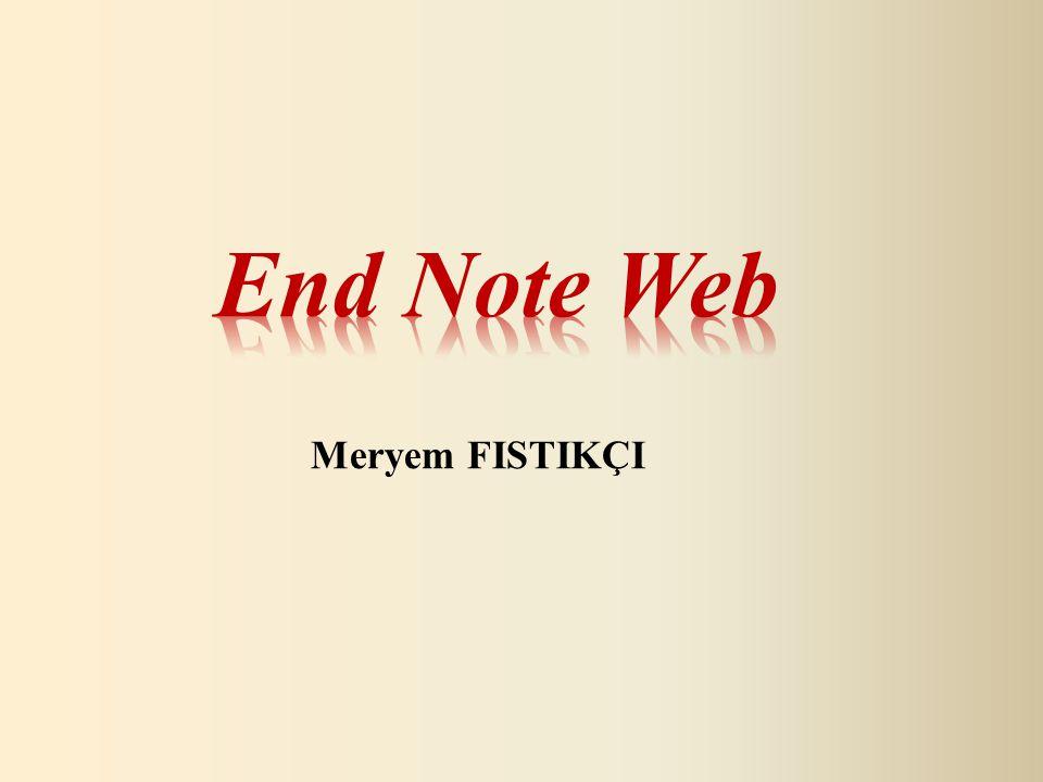 Endnote Web kütüphanesinde kayıtlı olan dosya ismi yazılarak seçilir ve Find Citation tıklanır.