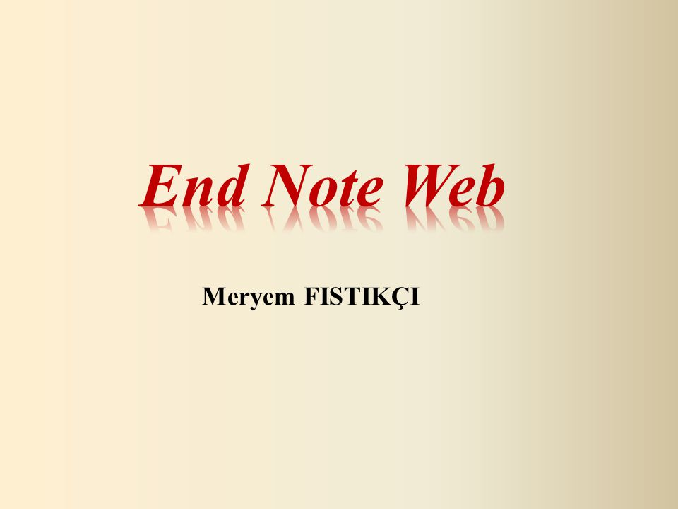 Import References: Endnote web kütüphanesine dosya aktarılabilir.