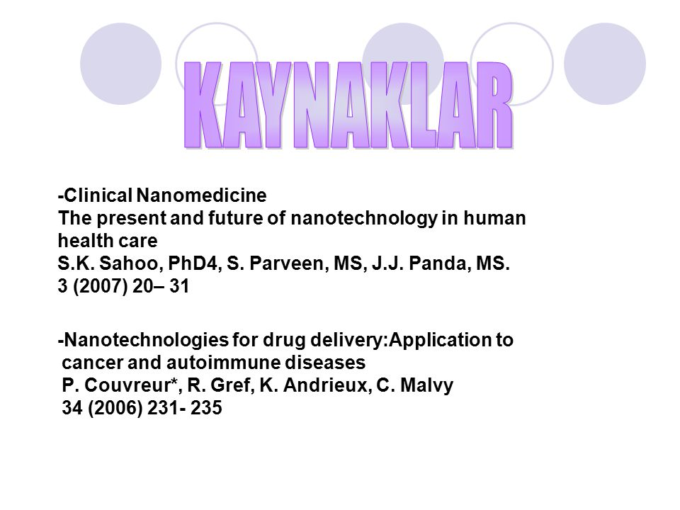 -Clinical Nanomedicine The present and future of nanotechnology in human health care S.K.