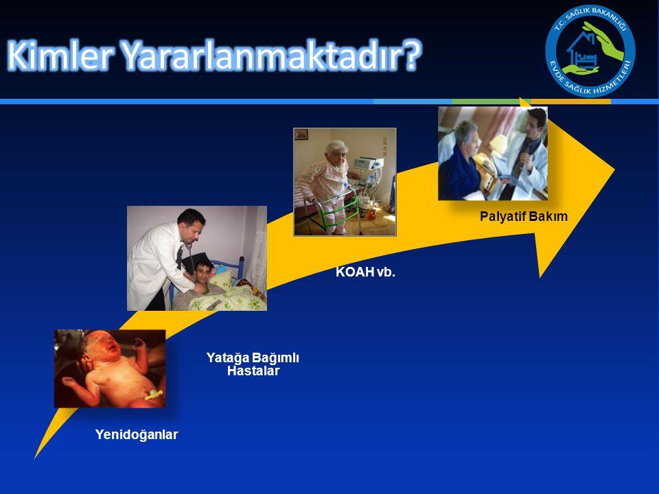 Yenidoğanlar Yatağa Bağımlı Hastalar Palyatif Bakım KOAH vb.