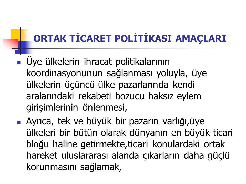 Ortak Ticaret Politikası Alanında Türkiye'nin Uyumu Türkiye, AB'nin Ortak Ticaret Politikası'nda önemli yeri olan otonom rejimlere uyum çerçevesinde, tek taraflı tavizler içeren Genelleştirilmiş Tercihler Sistemi'ni (GTS) tümüyle üstlenmiştir.