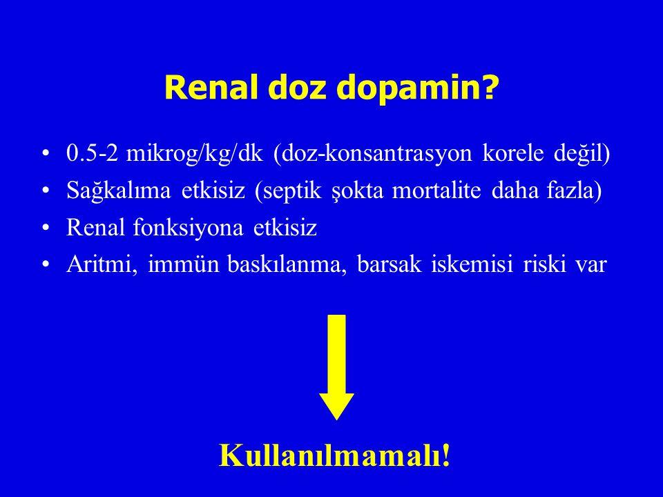 Renal doz dopamin.