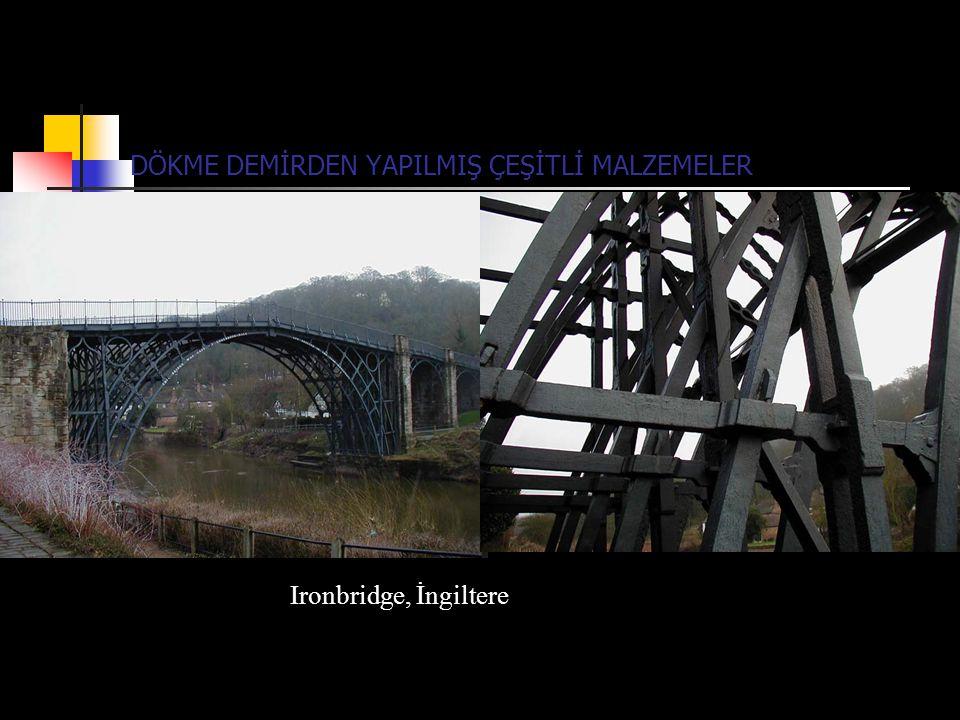 DÖKME DEMİRDEN YAPILMIŞ ÇEŞİTLİ MALZEMELER Ironbridge, İngiltere