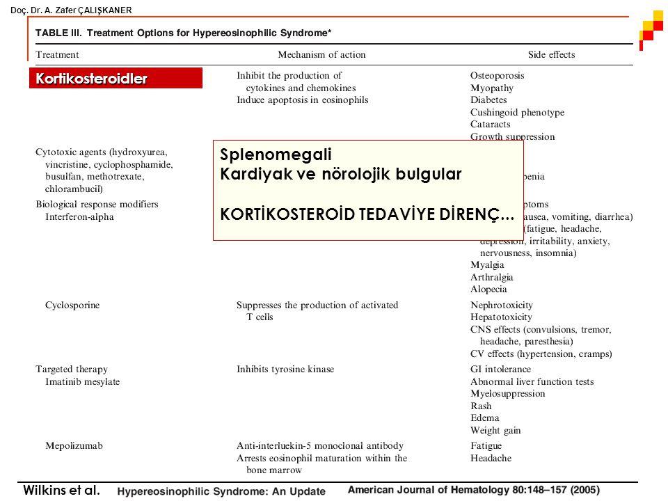 Doç. Dr. A. Zafer ÇALIŞKANER Wilkins et al. Kortikosteroidler Splenomegali Kardiyak ve nörolojik bulgular KORTİKOSTEROİD TEDAVİYE DİRENÇ...