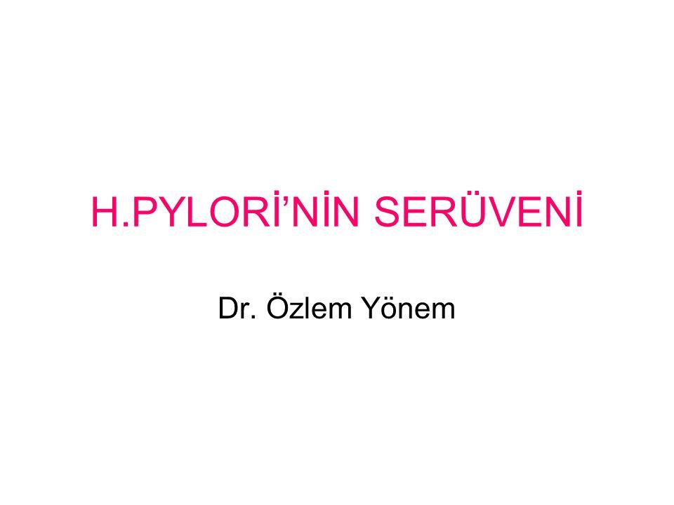 H.PYLORİ'NİN SERÜVENİ Dr. Özlem Yönem