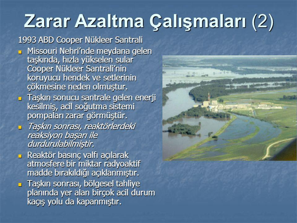 Zarar Azaltma Çalışmaları (2) 1993 ABD Cooper Nükleer Santrali Missouri Nehri'nde meydana gelen taşkında, hızla yükselen sular Cooper Nükleer Santrali