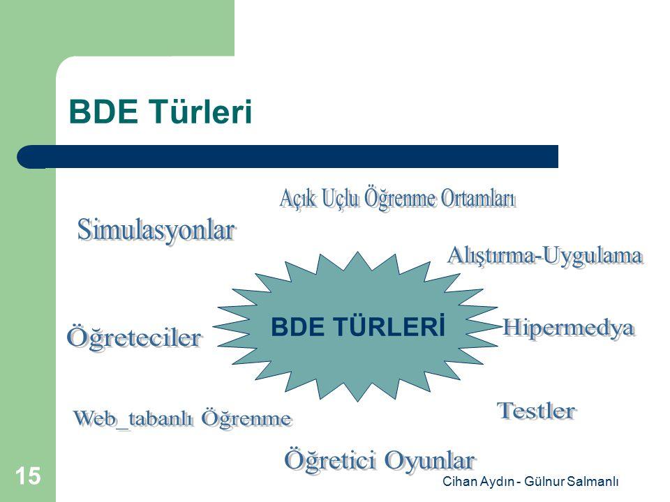 Cihan Aydın - Gülnur Salmanlı 15 BDE Türleri BDE TÜRLERİ