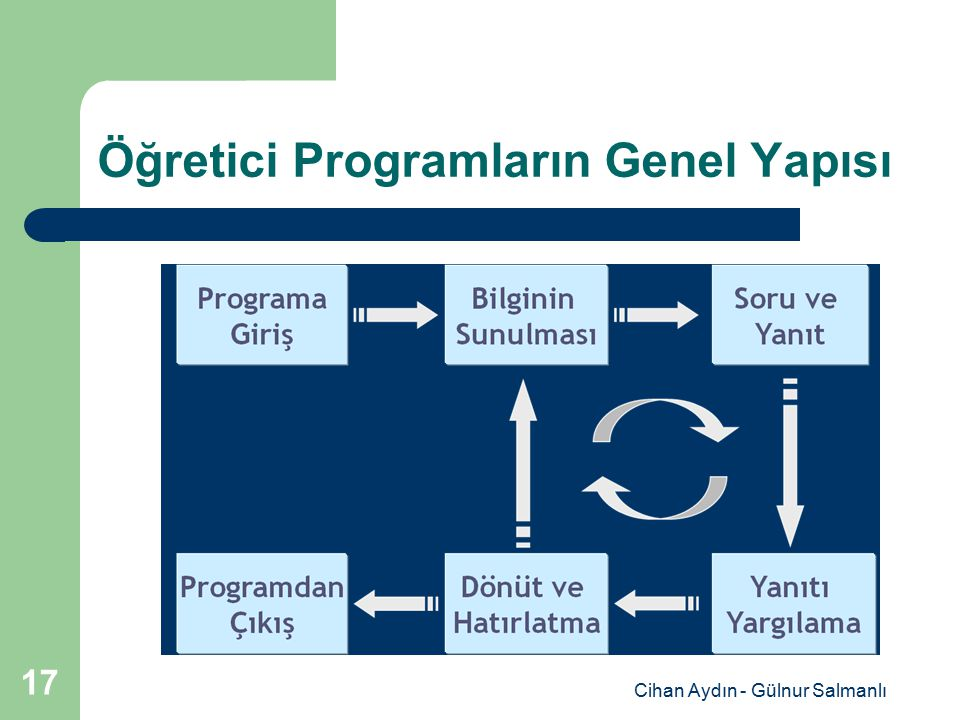 Cihan Aydın - Gülnur Salmanlı 17 Öğretici Programların Genel Yapısı