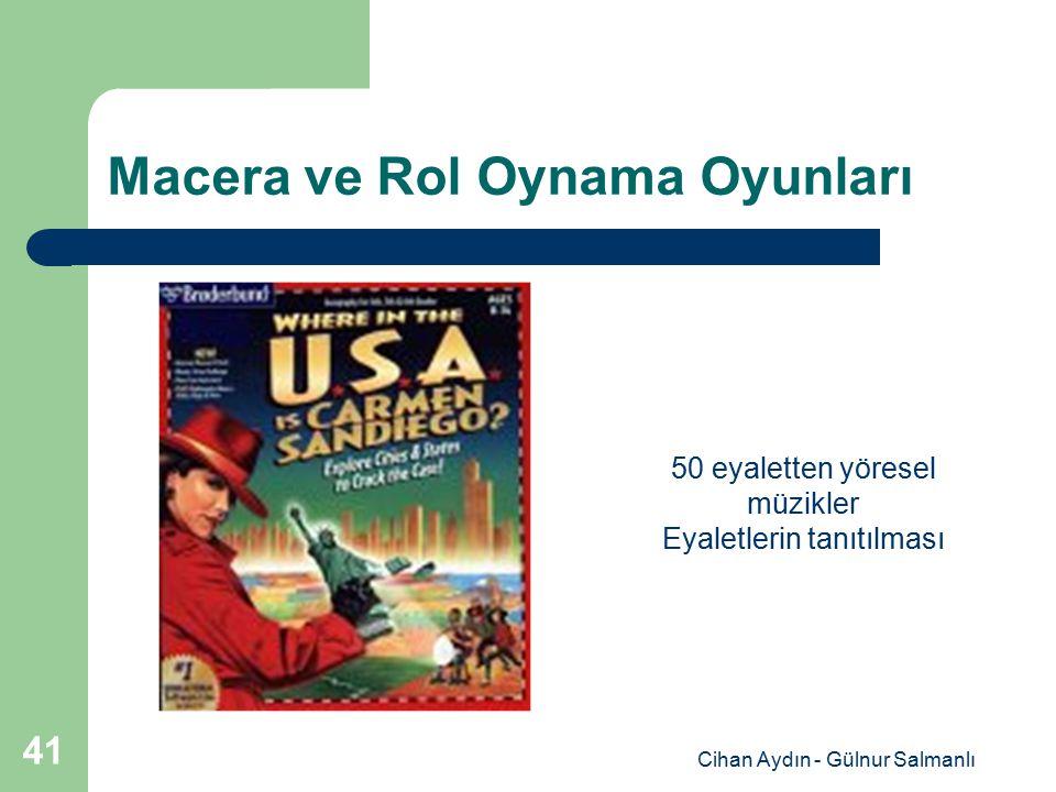 Cihan Aydın - Gülnur Salmanlı 41 Macera ve Rol Oynama Oyunları 50 eyaletten yöresel müzikler Eyaletlerin tanıtılması
