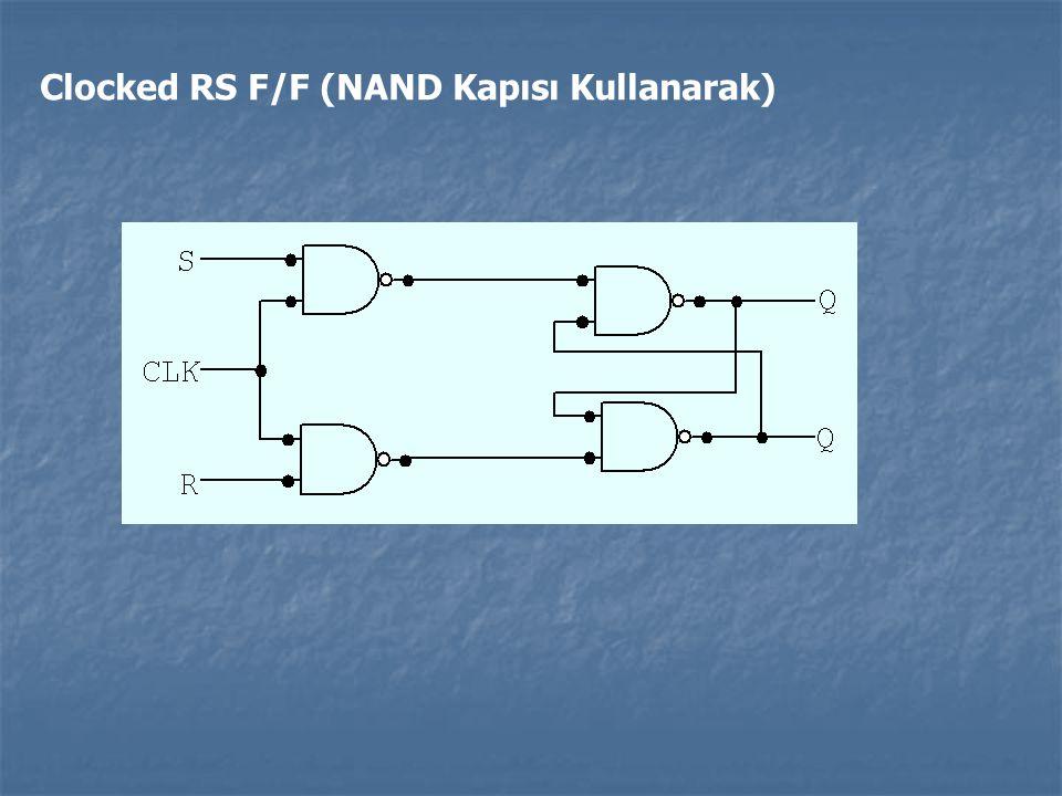 Clocked RS F/F (NAND Kapısı Kullanarak)