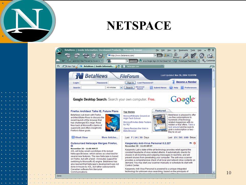 10 NETSPACE