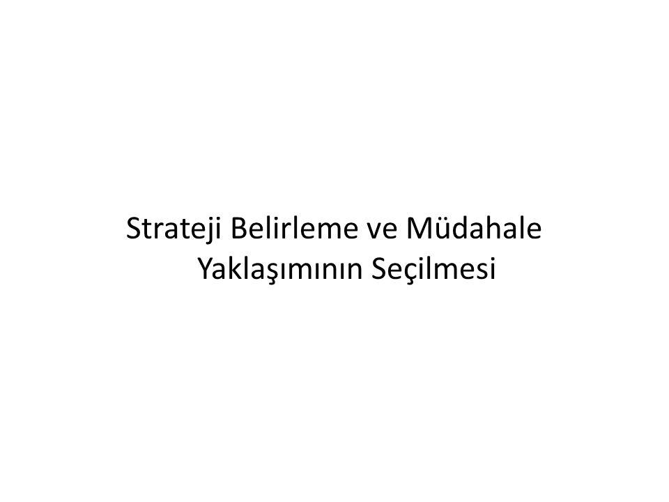 Strateji Belirleme ve Müdahale Yaklaşımının Seçilmesi