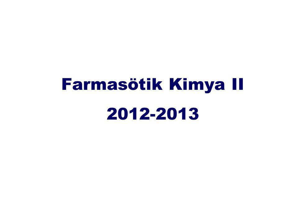 Farmasötik Kimya II 2012-2013