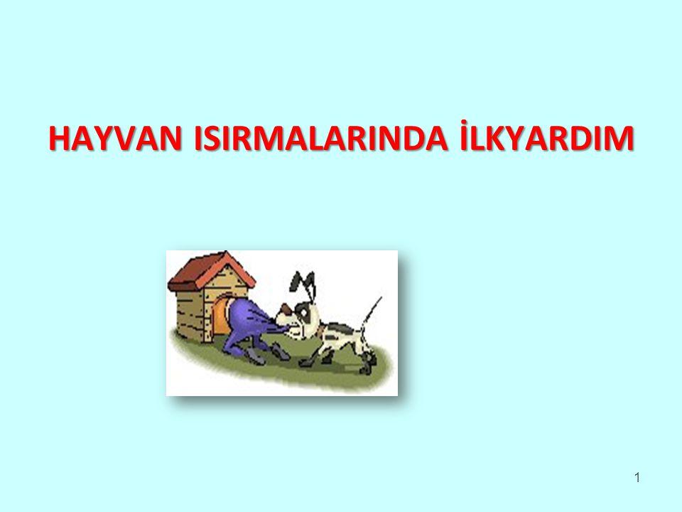 HAYVAN ISIRMALARINDA İLKYARDIM 1