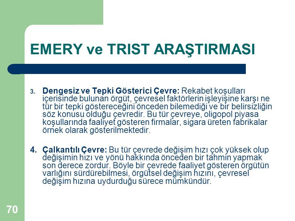 70 EMERY ve TRIST ARAŞTIRMASI 3.
