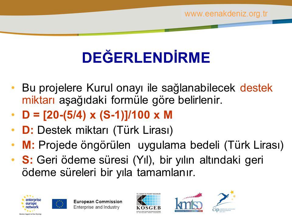 PLACE PARTNER'S LOGO HERE Title of the presentation | Date | ‹#› DEĞERLENDİRME Bu projelere Kurul onayı ile sağlanabilecek destek miktarı aşağıdaki fo