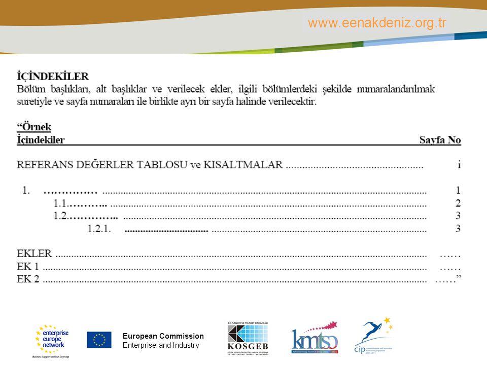 PLACE PARTNER'S LOGO HERE Title of the presentation | Date | ‹#› www.eenakdeniz.org.tr European Commission Enterprise and Industry
