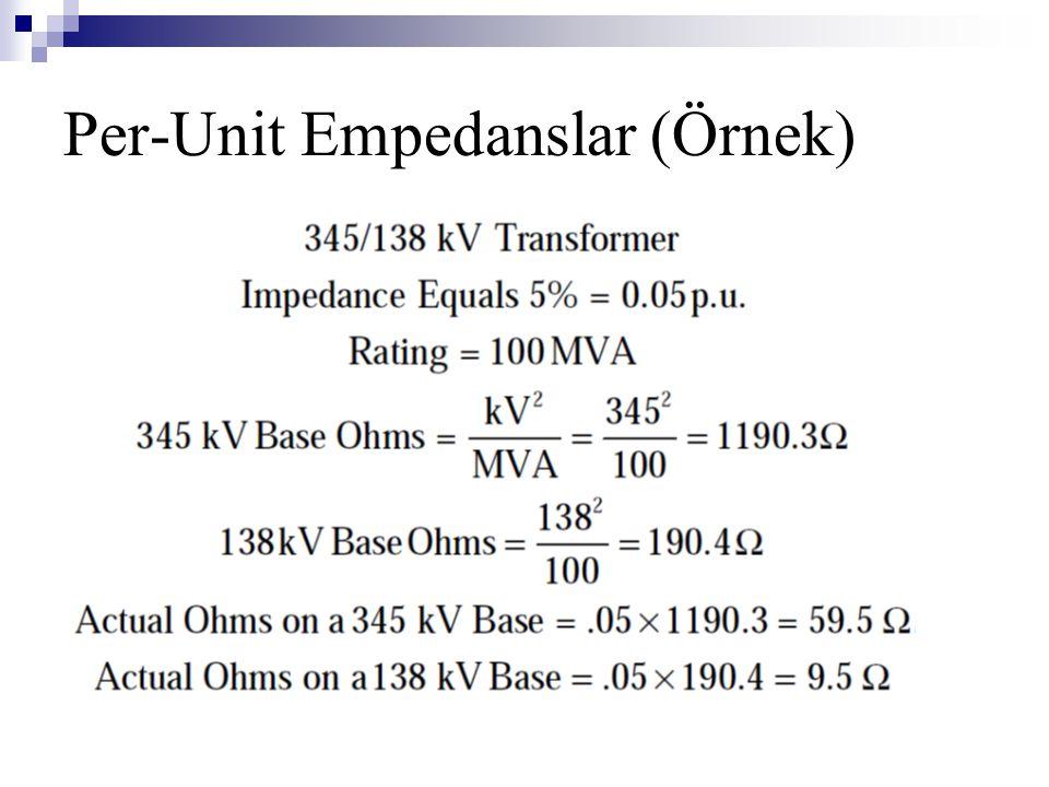 Per-Unit Empedanslar (Örnek)