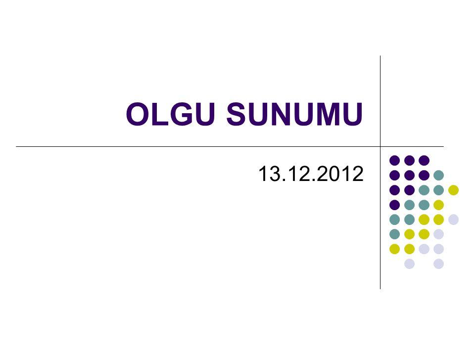 OLGU SUNUMU 13.12.2012