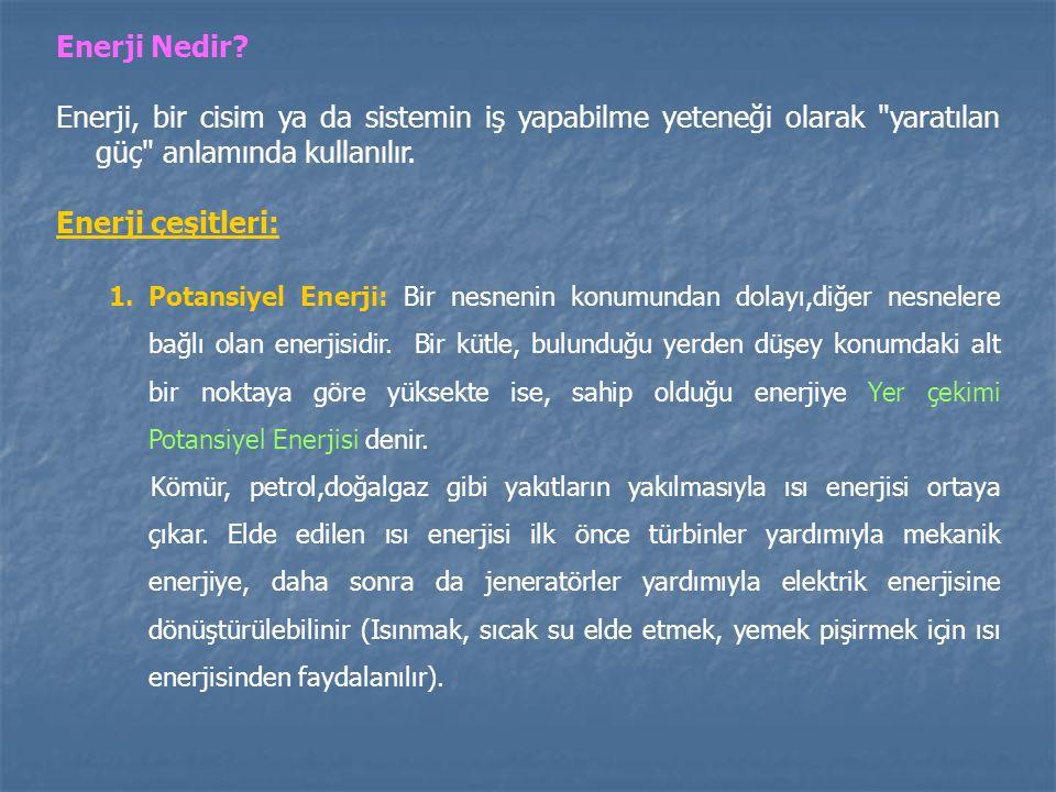 Enerji Nedir? Enerji, bir cisim ya da sistemin iş yapabilme yeteneği olarak