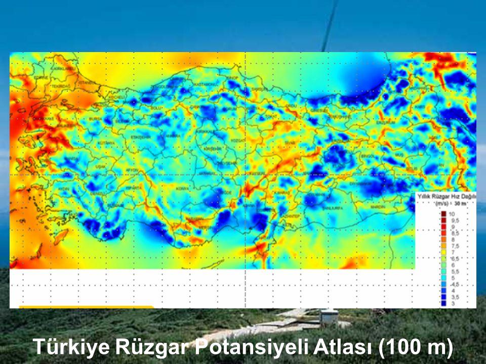 Türkiye Rüzgar Potansiyeli Atlası (100 m)